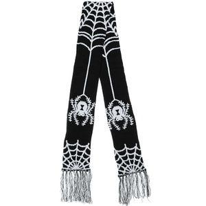 "Sourpuss Keyhole Spider Web Knit 60"" Gothic Scarf"